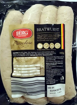 Provedore Bratwurst - Product - en