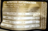 Provedore Bratwurst - Nutrition facts - en