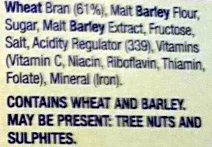 Just Bran - Ingredients - en