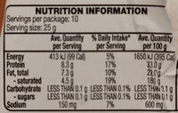 Grana Padano - Nutrition facts - en