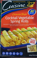 Chinese Style Cocktail Vegetable Spring Rolls - Product