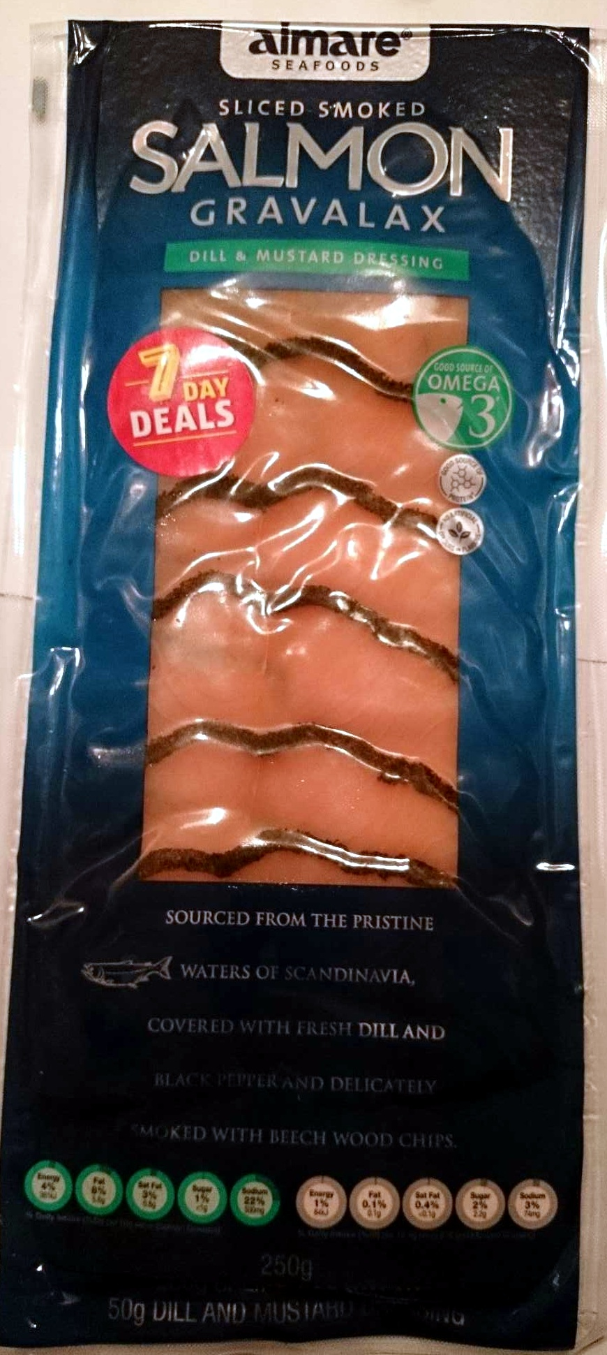 Sliced Smoke Salmon Gravalax - Dill & Mustard Dressing - Product - en