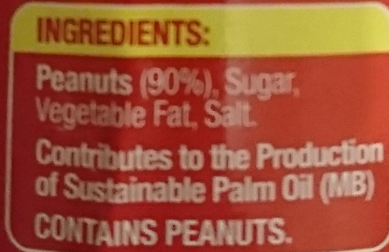 Crunchy Peanut Butter - Ingredients - en