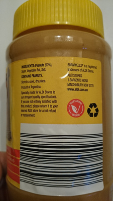 Crunchy Peanut Butter - Ingredients - en