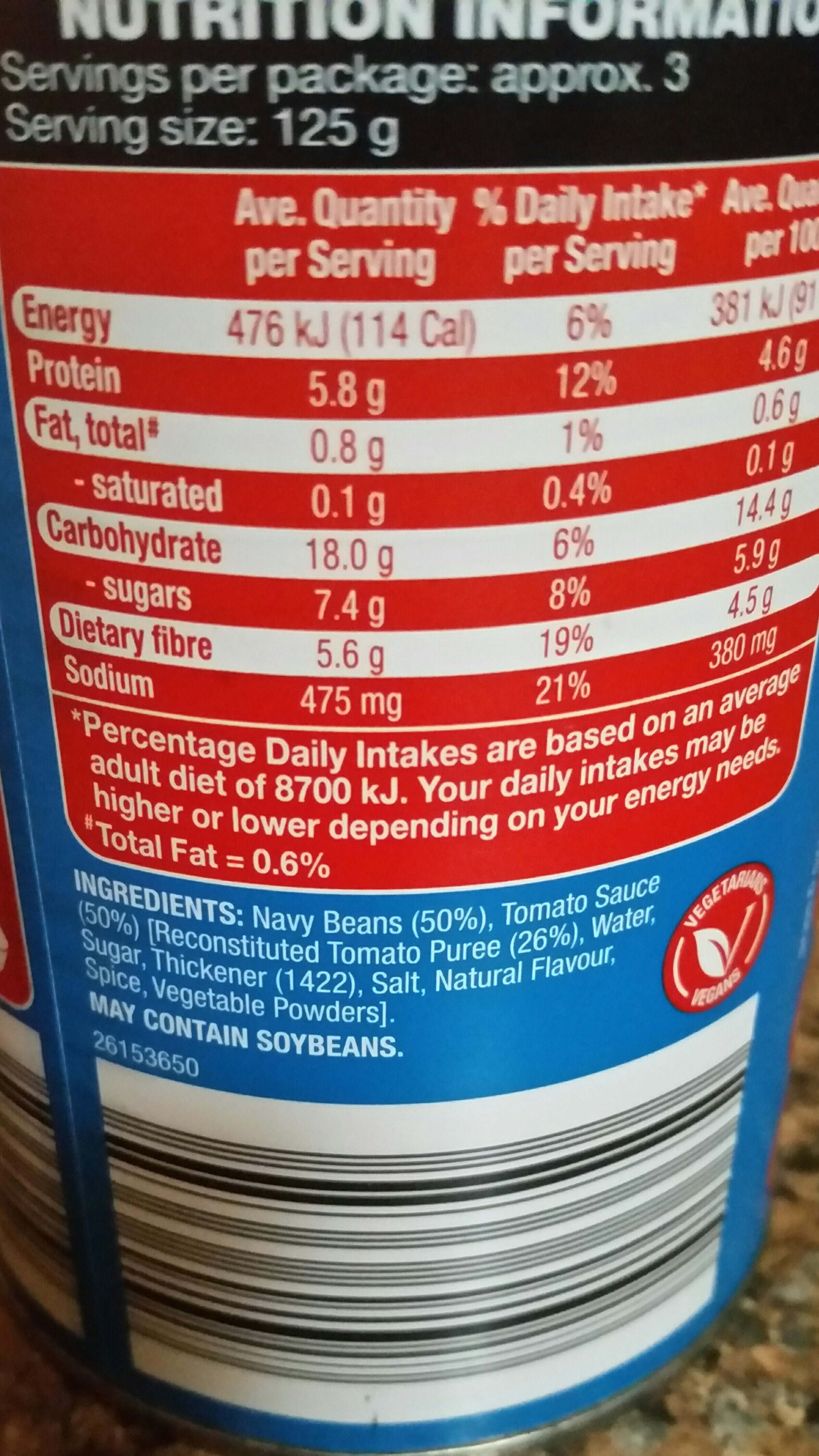 Corale Baked Beans Nutritional Information Nutrition Pics