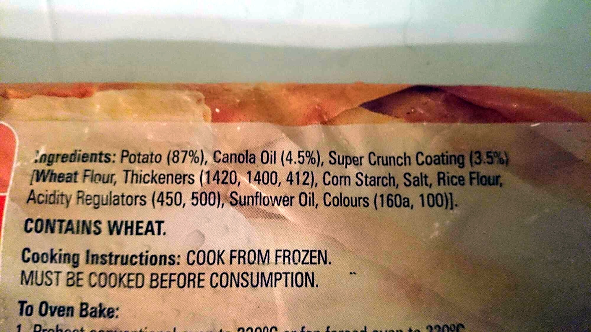 Super Crunch Chips - Ingredients - en