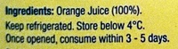 Country Orchard 100% Orange Juice - Ingredients