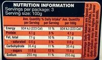 Middle Eastern Style Cous Cous Premium Prepared Salad - Nutrition facts - en