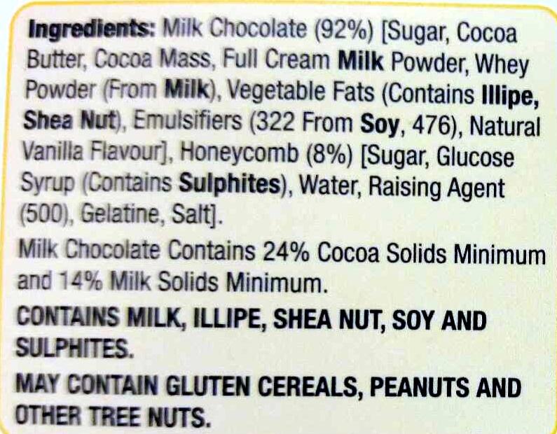 Honeycomb Easter Egg - Ingredients - en