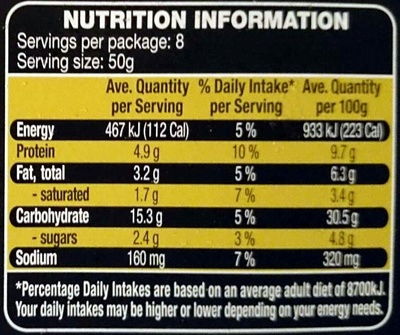 Woodfired Pizza Mozarella & Rocket - Nutrition facts - en