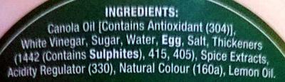 Creamy Mayonaise - Inhaltsstoffe - en