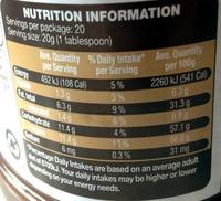 Choc Hazelnut Product spread - Nutrition facts