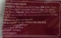 Dairy Fine Peanuts - Ingredients