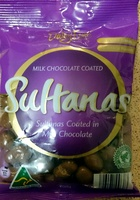 Milk Chocolate Coated Sultanas - Product - en