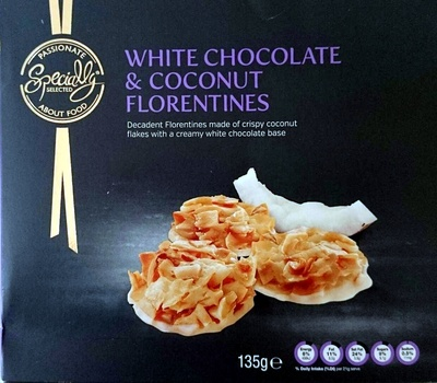 White Chocolate & Coconut Florentines - Product