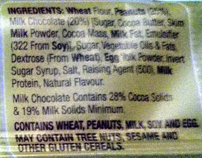 Chocolate Peanut Cookies - Ingredients - en