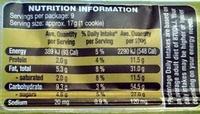 Chocolate Peanut Cookies - Nutrition facts - en