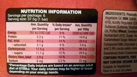 Nut Bars Choc Almond and Cranberry - Nutrition facts