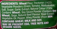 Shepherds's Pie Recipe Base - Ingredients - en