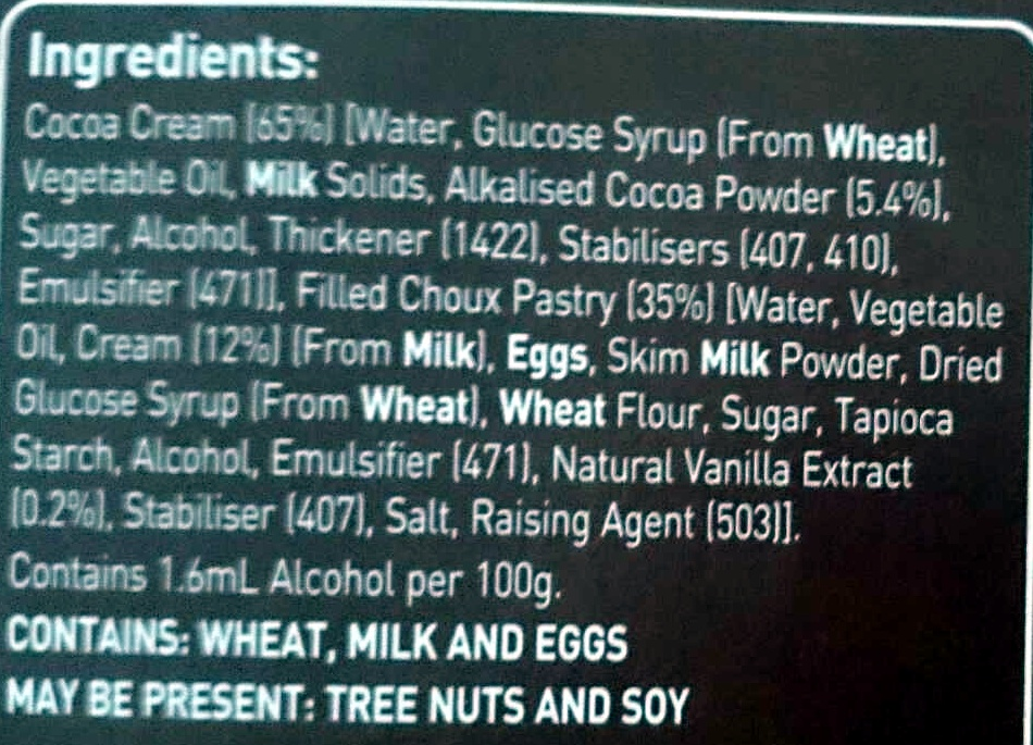 Profiteroles - Ingredients - en