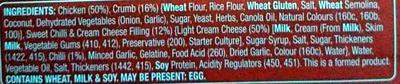 Boneless Chicken Kiev - Sweet Chilli - Ingredients - en