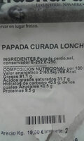 papada curada - Ingredients