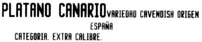 Plátanos de Canarias - Ingredients