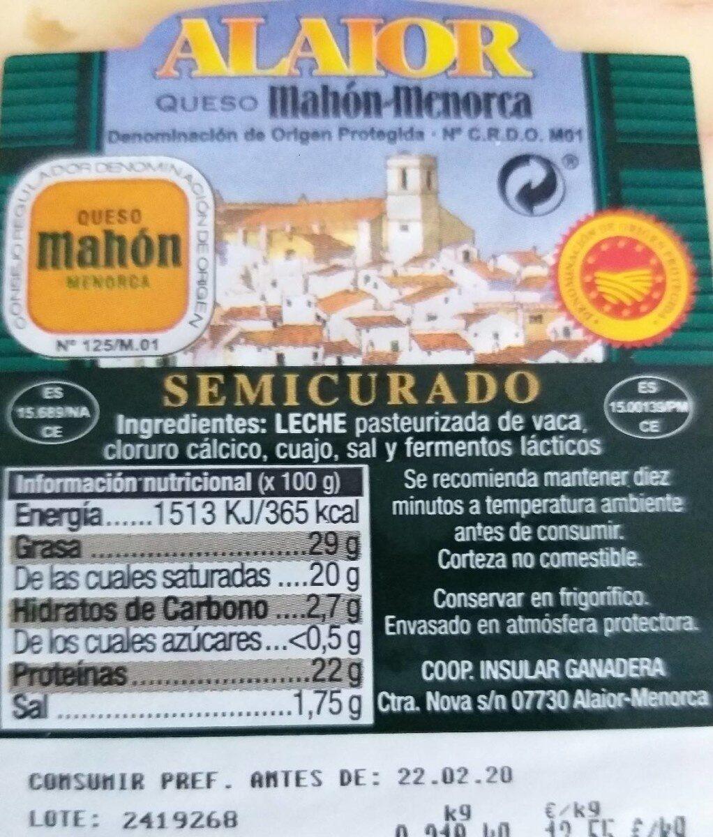 Mahón-Menorca - Product - es
