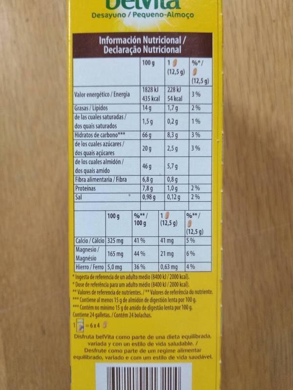 Desayuno leche y cereales - Información nutricional - es