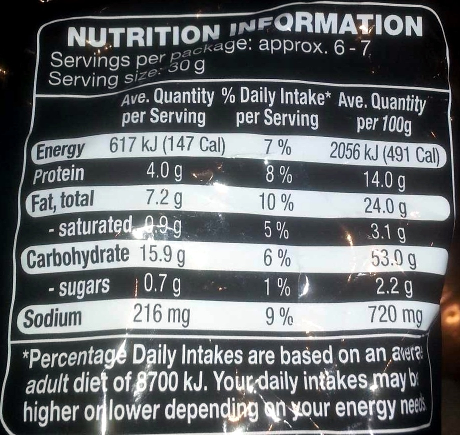 Oktoberfest Peanut Puffs - Nutrition facts - en