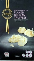White Chocolate Flaked Belgian Truffles - Product