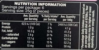 White Chocolate Flaked Belgian Truffles - Nutrition facts