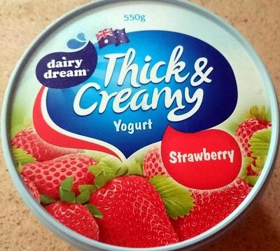 Thick & Creamy Yoghurt - Strawberry - Product - en