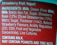 Thick & Creamy Yoghurt - Strawberry - Ingredients - en