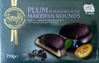 Plum Marzipan Rounds in Madeira Wine - Product