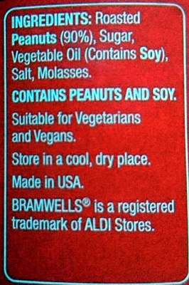 American Style Peanut Butter Crunchy - Ingredients