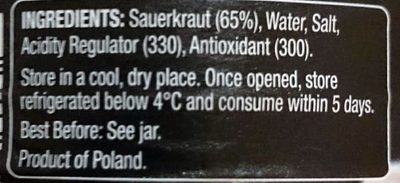 Sauerkraut - Ingredients