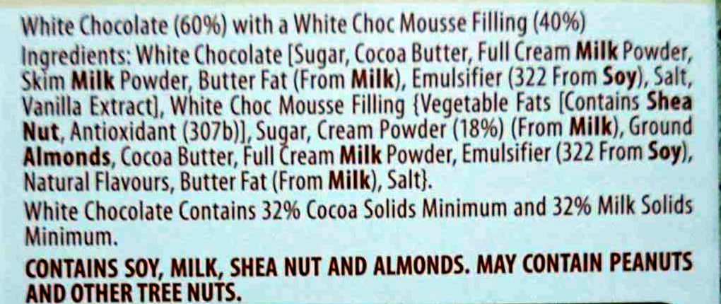 Mousse au Chocolat White - Ingrédients - en