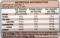 Mousse au Chocolat White - Informations nutritionnelles - en