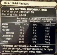 Luxury Iced All Over Christmas Cake - Nutrition facts - en
