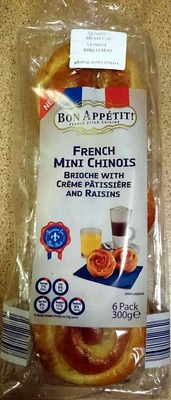 French Mini Chinos - Brioche With Creme Patisserie and Raisins - Product - en