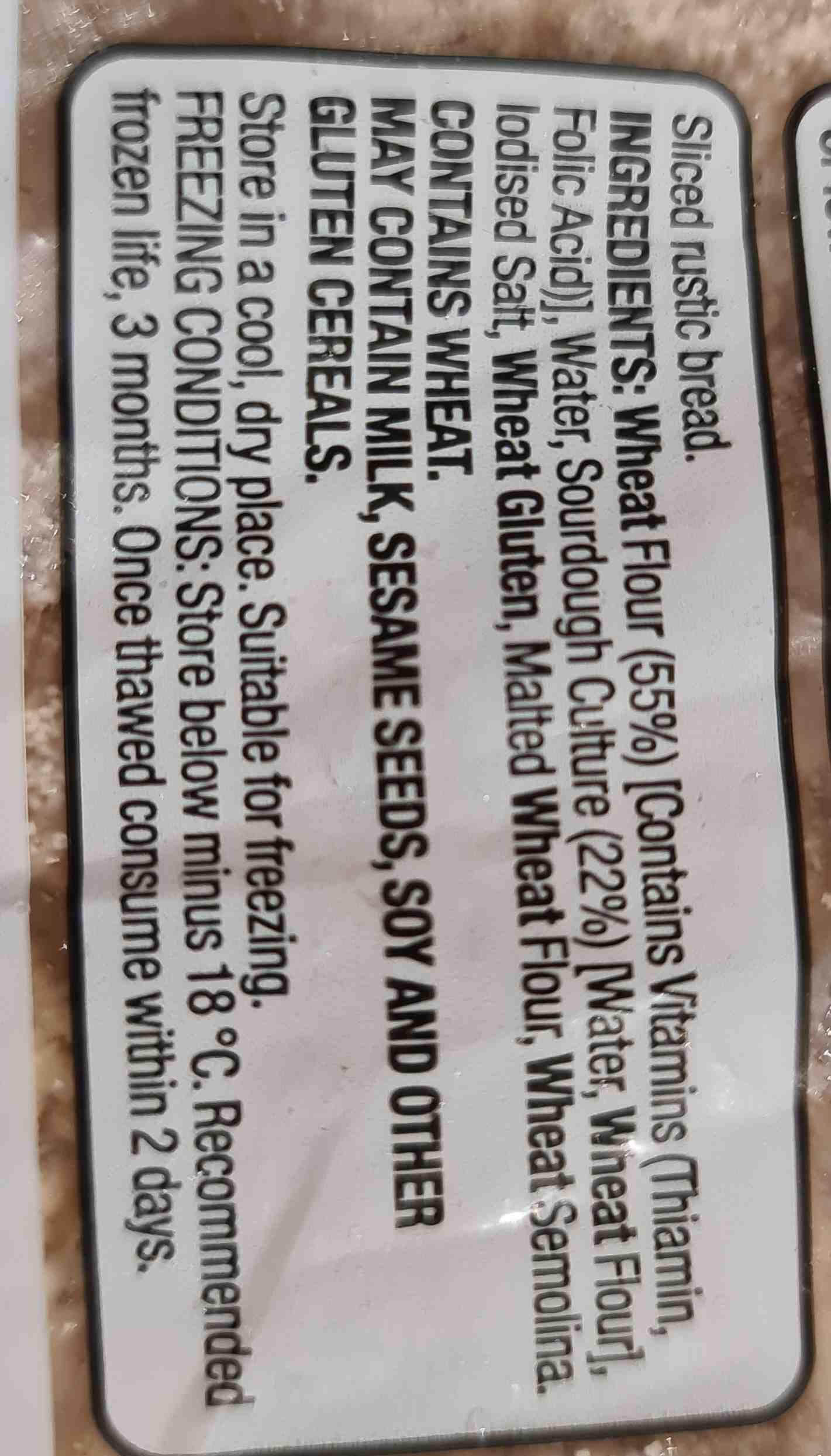 sourdough - Ingredients - en