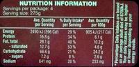Pumpkin Pesto Agnolotti - Nutrition facts - en