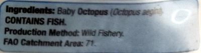 Baby Octopus Frozen - Ingredients - en