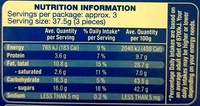 Lubecker Marzipan Pralines - Nutrition facts - en