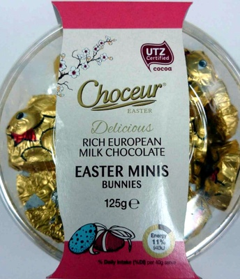Rich European Milk Chocolate Easter Minis Bunnies - Product