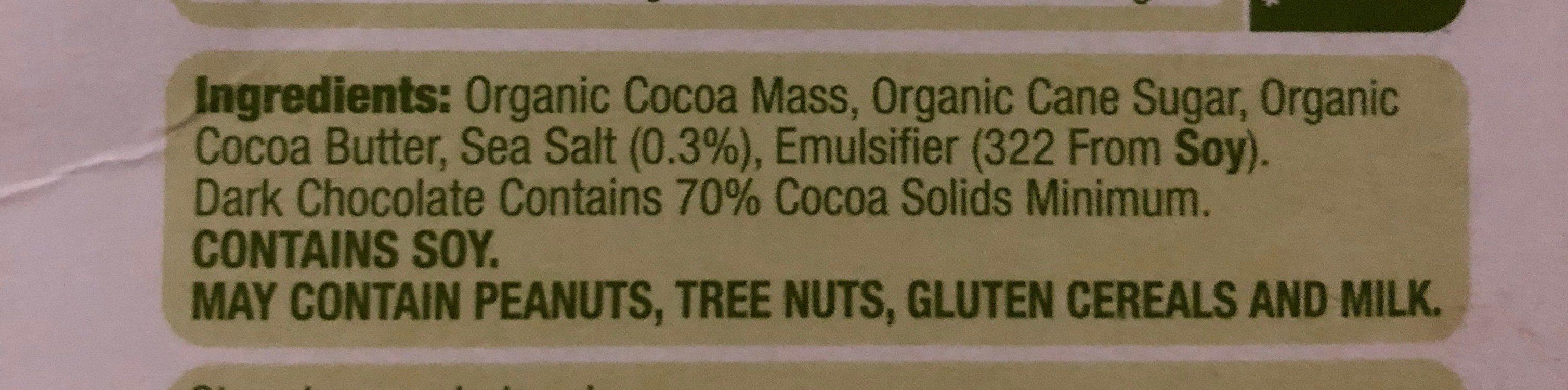 Organic dark - Ingredients