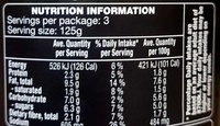 Gourmet Pasta Sauce - Siciliana - Nutrition facts