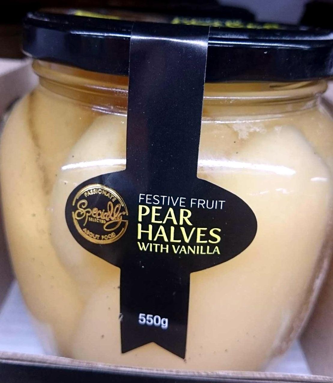 Festive Fruit Pear Halves With Vanilla - Product - en