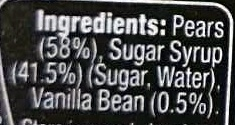 Festive Fruit Pear Halves With Vanilla - Ingredients - en